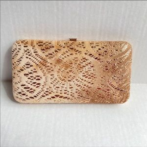 🍁 ICING fabric Clutch wallet beige gold
